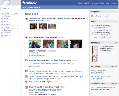 facebook news feed timeline