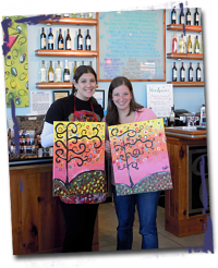 A big welcome to Painted Palette, spreading art & wine to the city, cheers to Carmel Road Chardonnay